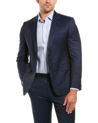 Brioni Blue 2pc Wool & Mohair-blend Suit With Flat Pant for men