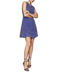 Reiss Blue Nelly Spot Print Day Dress
