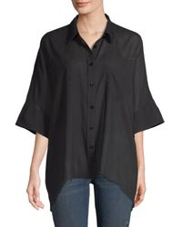 Free People Black Best Of Me Oversized Blouse