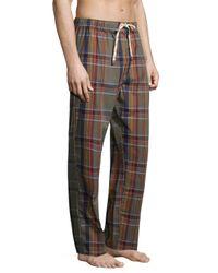 Original Penguin - Blue Plaid Cotton Pajama Set for Men - Lyst