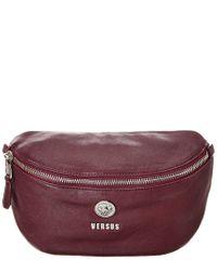 Versus  Purple By Versace Leather Belt Bag