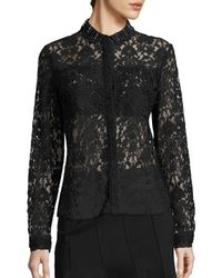 Elie Tahari | Black Avon All Over Lace Top | Lyst
