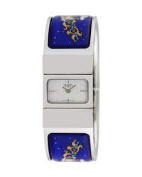 Hermès Multicolor Vintage Hermes Loquet Bangle Watch, 28mm