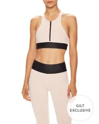 Olympia - Multicolor Ophelia Zip Ballet Exclusive Sports Bra - Lyst