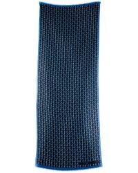Louis Vuitton Blue Chevron Linen Scarf, Never Worn
