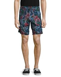 c3abbeca3e Lyst - Naked & Famous Slim Big Tropical Shorts in Blue for Men