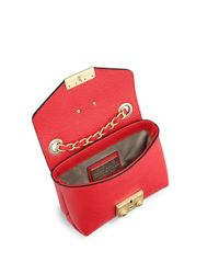 Valentino By Mario Valentino Red Lola Doll Leather Clutch