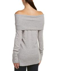 Quinn Gray Qi Cashmere Off-the-shoulder Tube Tunic