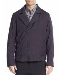 Vince Camuto - Black Moto Jacket for Men - Lyst