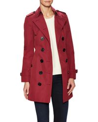 Burberry Red The Sandringham Mid-length Heritage Trench Coat
