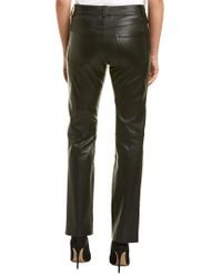 Helmut Lang Black Slim Fit Leather Pant