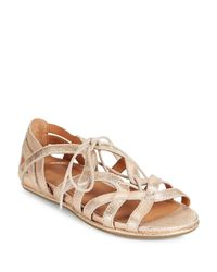 Gentle Souls Multicolor Oona Lace-up Leather Sandals