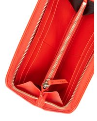 Lanvin - Red Solid Long Wallet - Lyst