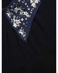 Miu Miu Black Embellished Collar Mini Dress
