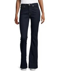 7 For All Mankind Blue Slim-fit Flared Jeans