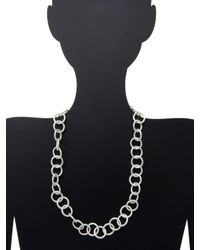 """Stephanie Kantis - Metallic Classic Sterling Silver Plated Necklace/24"""" - Lyst"""