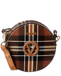 Valentino By Mario Valentino Multicolor Yuki Tartan Leather Crossbody
