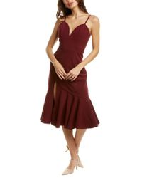 Dress the Population Red Marilyn Midi Dress