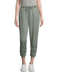 Splendid Green Side Ruched Pants