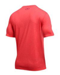 Under Armour Red Men's Threadborne Siro Embossed T-shirt for men