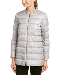 Moncler Gray Gamme Rouge Reversible Wool & Cashmere-blend Coat