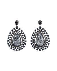 Bavna Metallic Silver 41.33 Ct. Tw. Diamond & Gemstone Earrings