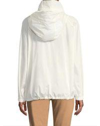 Akris - White Dearest Silk Coat - Lyst