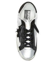 Golden Goose Deluxe Brand Metallic Leather Star Patch Sneakers