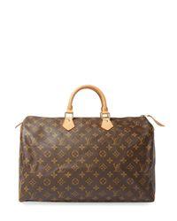 c5aa5f959fe0 Lyst - Louis Vuitton Vintage Monogram Canvas Speedy 40 in Brown