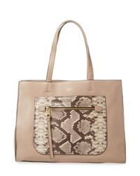 Vince Camuto - Natural Elvan Leather Tote Bag - Lyst