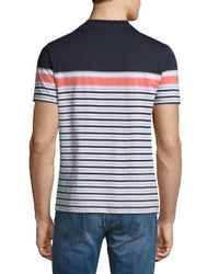 Original Penguin Blue Re-board Stripe Tee for men