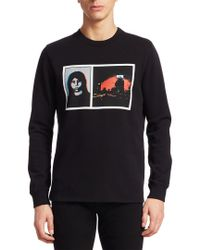 Givenchy Black Graphic Pullover for men