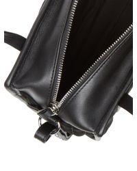 Steven Alan Black Simone Ribbed Leather Satchel