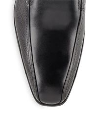 Kenneth Cole Black Better Half Leather Loafers for men