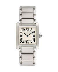 Cartier Metallic Vintage Cartier Midsize Tank Francaise Watch, 30mm for men