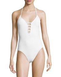 La Blanca - White Island Keyhole One Piece Swimsuit - Lyst