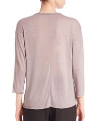 Vince - Pink Raw-edge Knit Top - Lyst