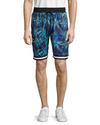 American Stitch Black Printed Drawstring Shorts for men