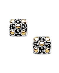 John Hardy Metallic Jaisalmer Square Stud Earrings