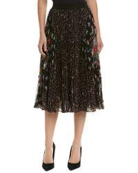 Rebecca Taylor Black Pleated Midi Skirt
