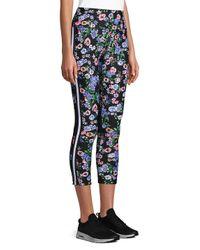 CALVIN KLEIN 205W39NYC - Black Floral Stretch Leggings - Lyst