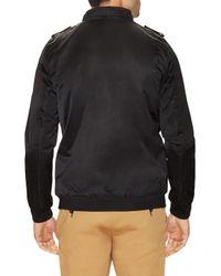 Members Only - Black Longer Modern Iconic Racer Jacket for Men - Lyst