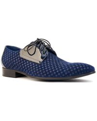 Maceoo Blue Leather Dress Shoe for men