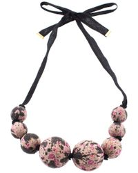 Louis Vuitton - Multicolor Wood Beaded Necklace - Lyst