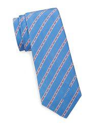 Versace Purple Striped Silk Tie for men
