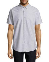 Tavik Gray Uncle Short Sleeve Shirt for men