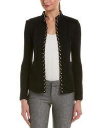 St. John Black Wool-blend Jacket
