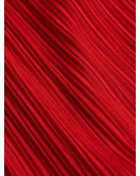 Max Mara Red Xiria Pleated Sheath