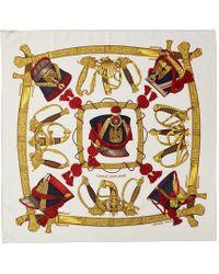"Hermès Multicolor ""grand Uniforme,"" By Joachim Metz Silk Scarf"