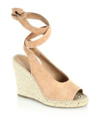 Joie - Natural Kael Suede Espadrille Wedges - Lyst